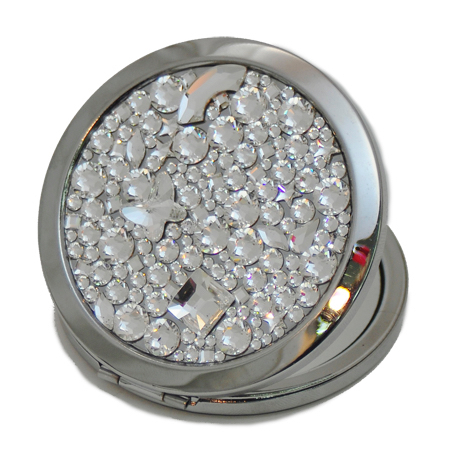 Learn how to create beautiful Swarovski creations like this beaded compact case!