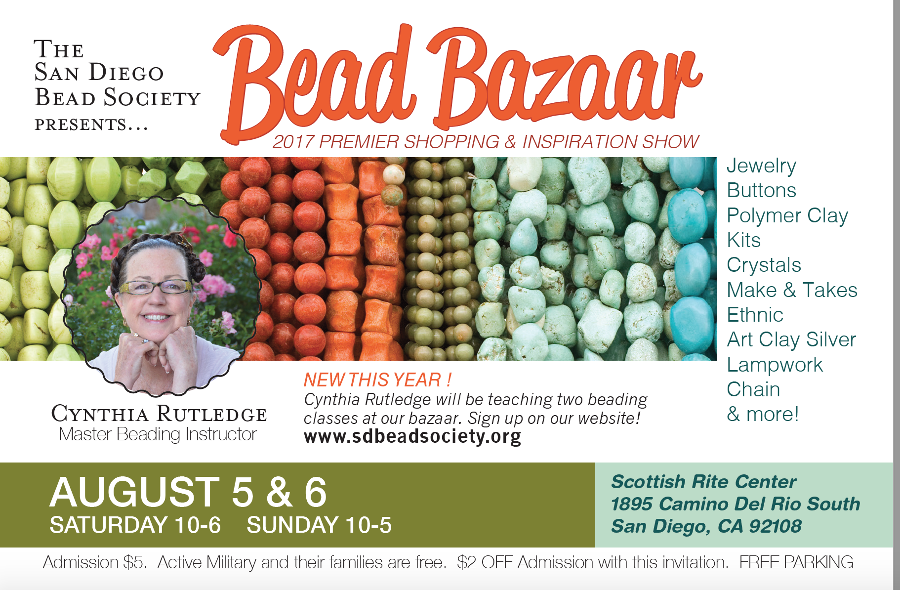 Our 18th annual Bead Bazaar is on August 5 and 6!