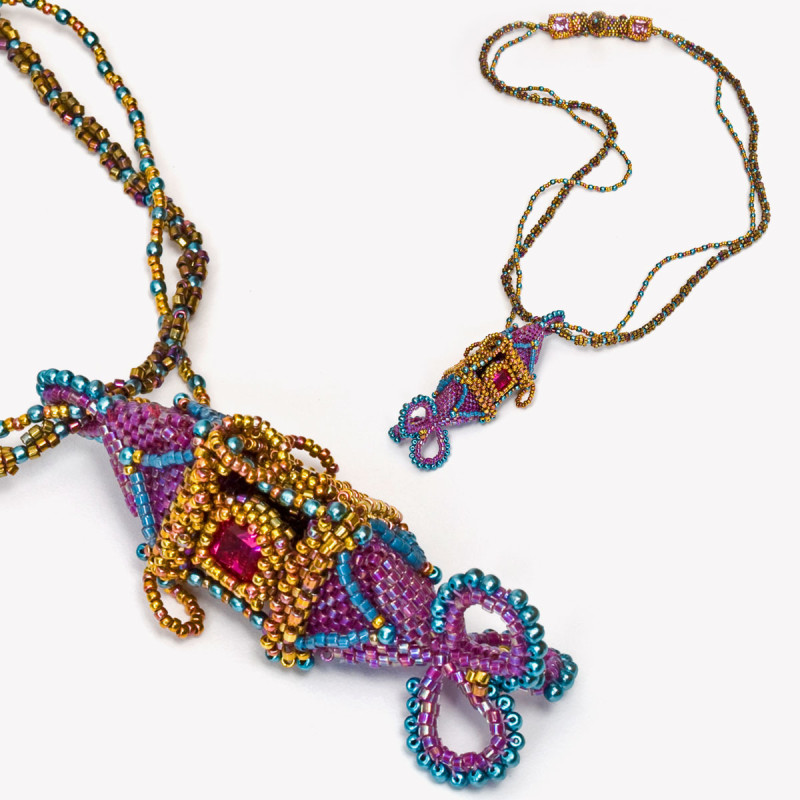 Learn how to make this beautiful necklace by Melanie Potter on Sunday, September 17!