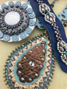 Bead & Crystal Embellished Die Cut Leather Class on April 22