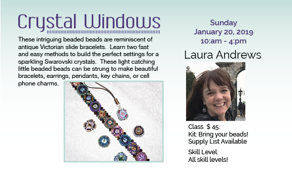 Crystal Windows Class on Jan. 20 10:00 am – 4:00 pm