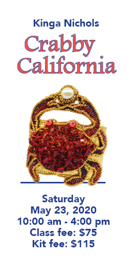 Don't be Crabby! Come make a beautiful Crabby California Bracelet on May 23, 2020.