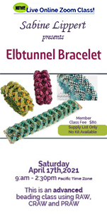 """Elbtunnel Bracelet"" will be taught on Saturday, April 17th, 2021"