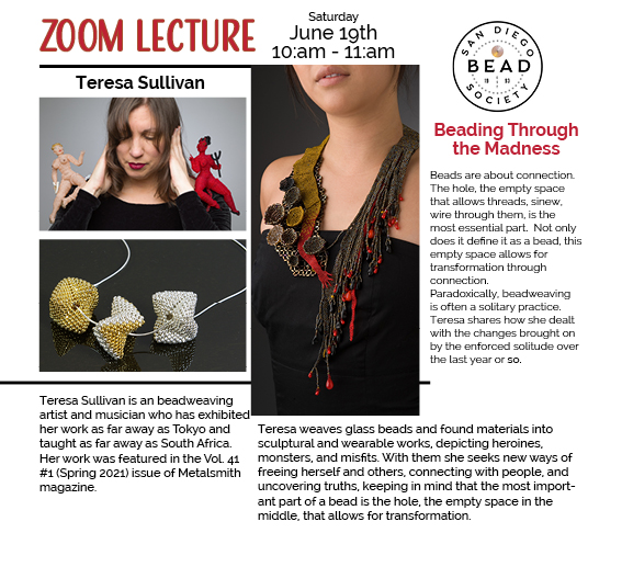 Beading Through the Madness – A Special Guest Lecture with Teresa Sullivan